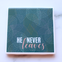 Fall for Jesus He Never Leaves Mug + Coaster Set - Coaster This