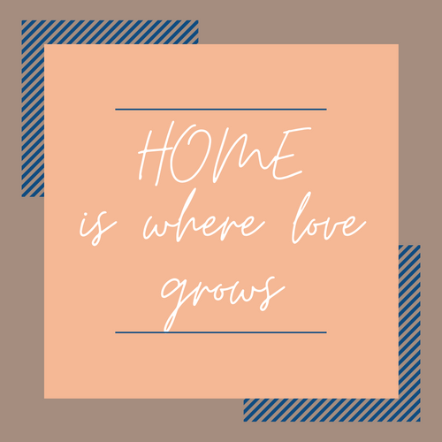 Home is Where Love Grows - Coaster This