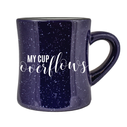 My Cup Overflows With Your Blessings Mug + Coaster Set | Blessings Collection - Coaster This