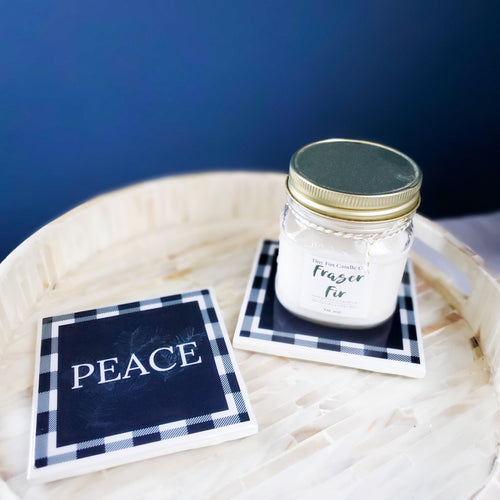 Hope, Peace & Fraser Fir | Candles & Coasters - Coaster This