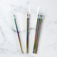Rainbow Stainless Straw Set - Coaster This