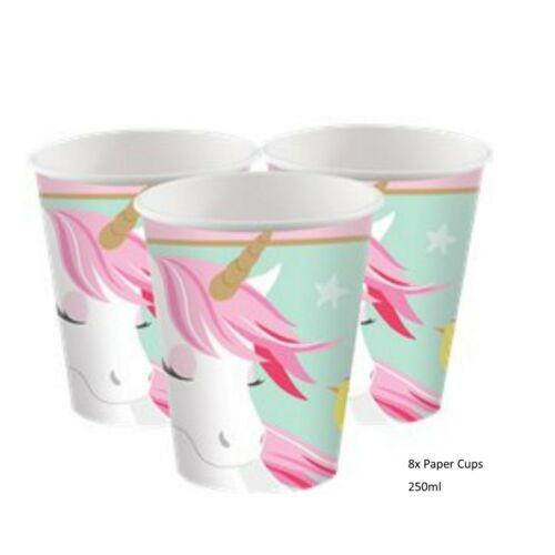 Amscan Magical Pink Unicorn Party Tableware and Decorations Birthday Party Girls