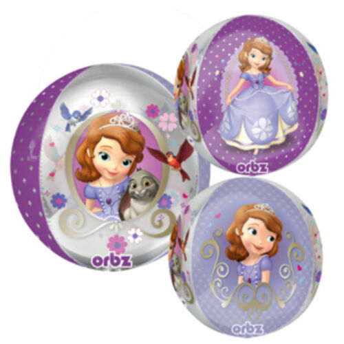 "Multisided Disney Sofia The First 15"" Orbz Foil Licensed Balloon"