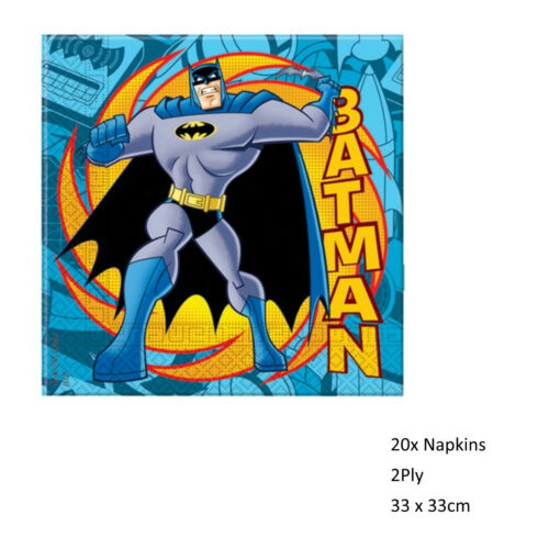 DC Comics PACKS Licensed BATMAN Superhero Supplies PARTY Tableware