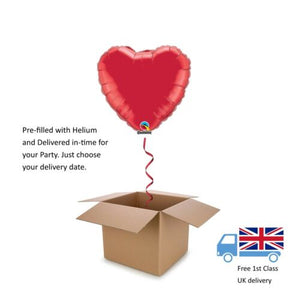 Plain Red Valentines Day Love Helium Heart Balloon in a box surprise 18""