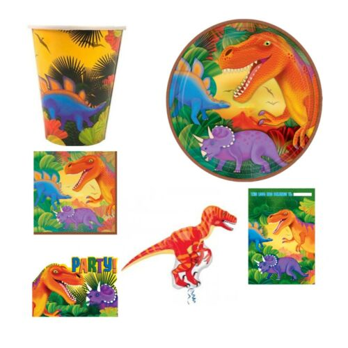 Prehistoric Dinosaur Range Tableware Birthday Decorations Party Supplies Set