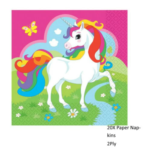 UNICORN PARTY BIRTHDAY PARTY TABLEWARE SUPPLIES GIRLS BIRTHDAY DECORATIONS
