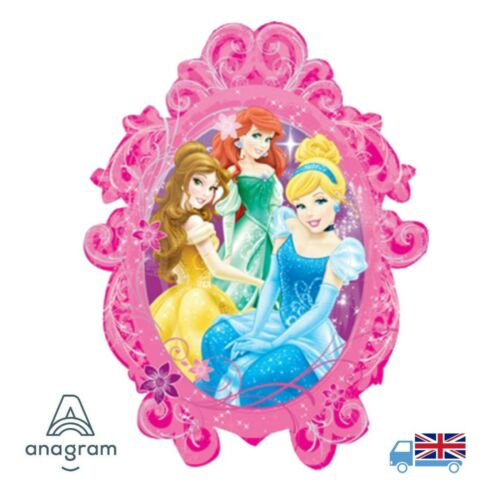 "32"" Jumbo Disney Princesses Party Frame SuperShape Foil Balloon Anagram Princess"