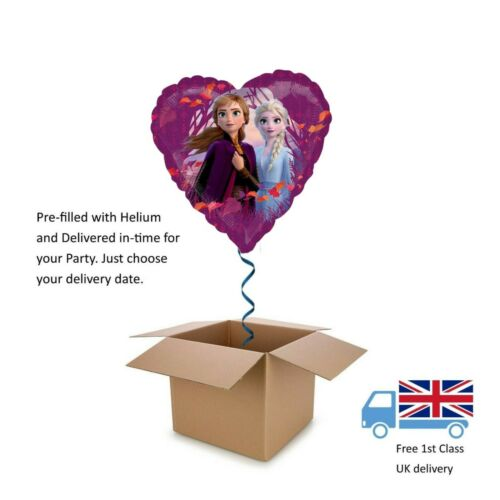 "18"" Disney Frozen II 2 Heart Balloon in a Box with Helium"