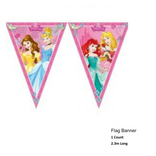 Disney Princess Party Tableware Birthday Supplies Girls Plates Decorations
