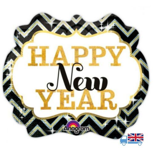 "Anagram / Amscan - 25"" Happy New Year Marquee Supershape Foil Balloon"