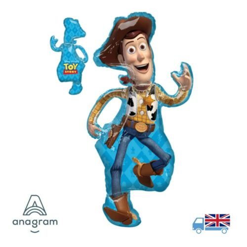 Disney Pixar Toy Story 4 Jumbo Woody SuperShape Helium Foil Balloon Anagram