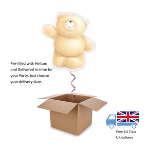 "31"" Anagram Forever Friends Teddy Bear shaped Balloon in a Box with Helium Gift"