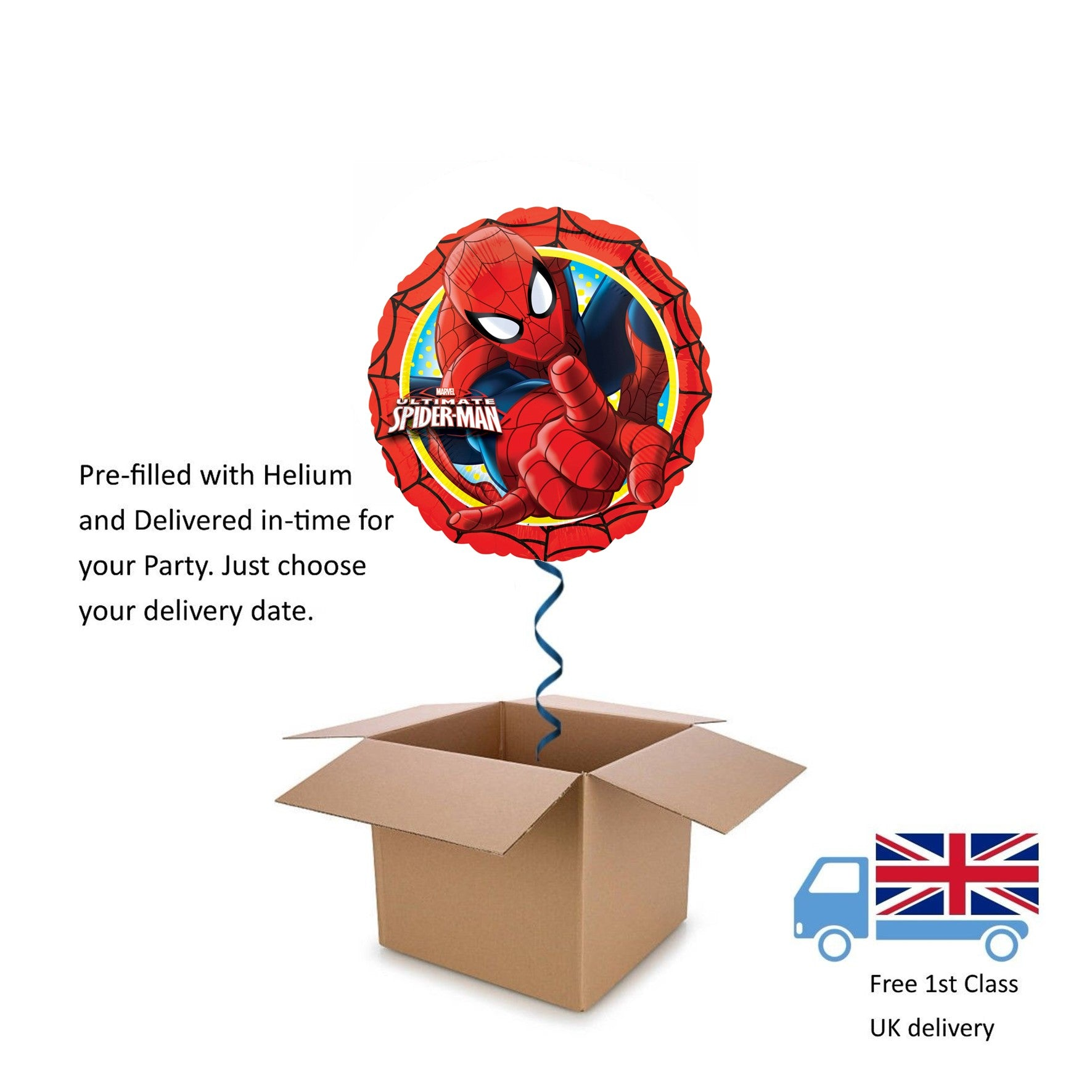 "18"" Anagram Marvel Comics Superman Balloon in a Box with Helium Surprise Gift"