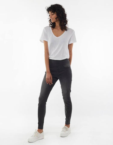 Lenny Denim Jeggings - Grey