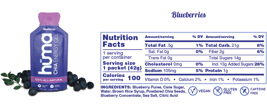 Huma Gel Blueberries Nutrition Facts