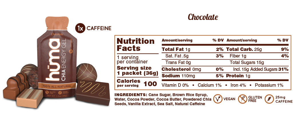 Huma Gel Chocolate Nutrition Facts