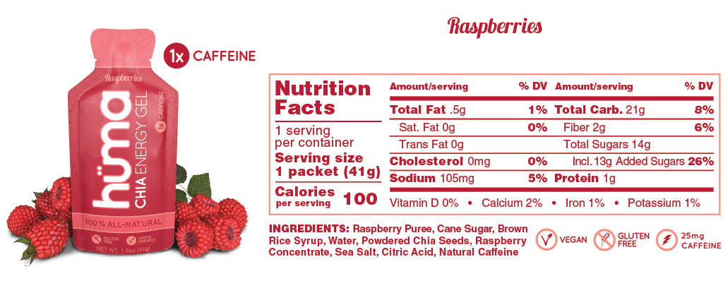 Huma Gel Raspberries Nutrition Facts