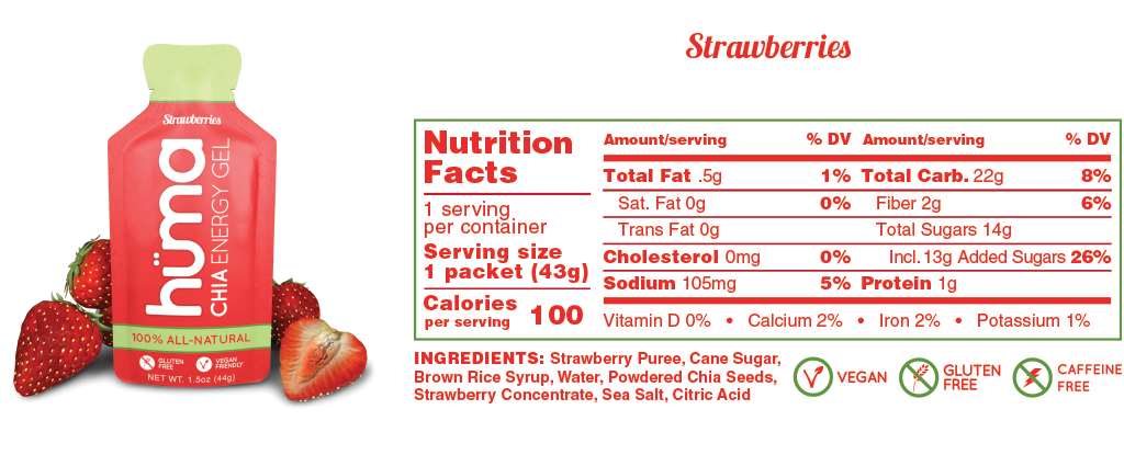 Huma Gel Strawberries Nutrition Facts