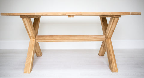 X Leg Rectangle Solid Teak Table (2200mm)