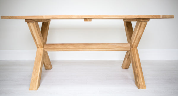 X Leg Rectangle Solid Teak Table (1600mm)