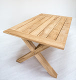 X Leg Rectangle Solid Teak Table (2400mm)