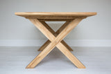 X Leg Rectangle Solid Teak Table (2000mm)