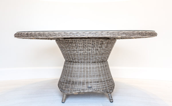 Synthetic All Weather Wicker Round Dining Table (1800mm)