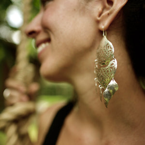 TESS0103 Party Earrings  by herosisters - Luxury handmade silver jewelry and accessories