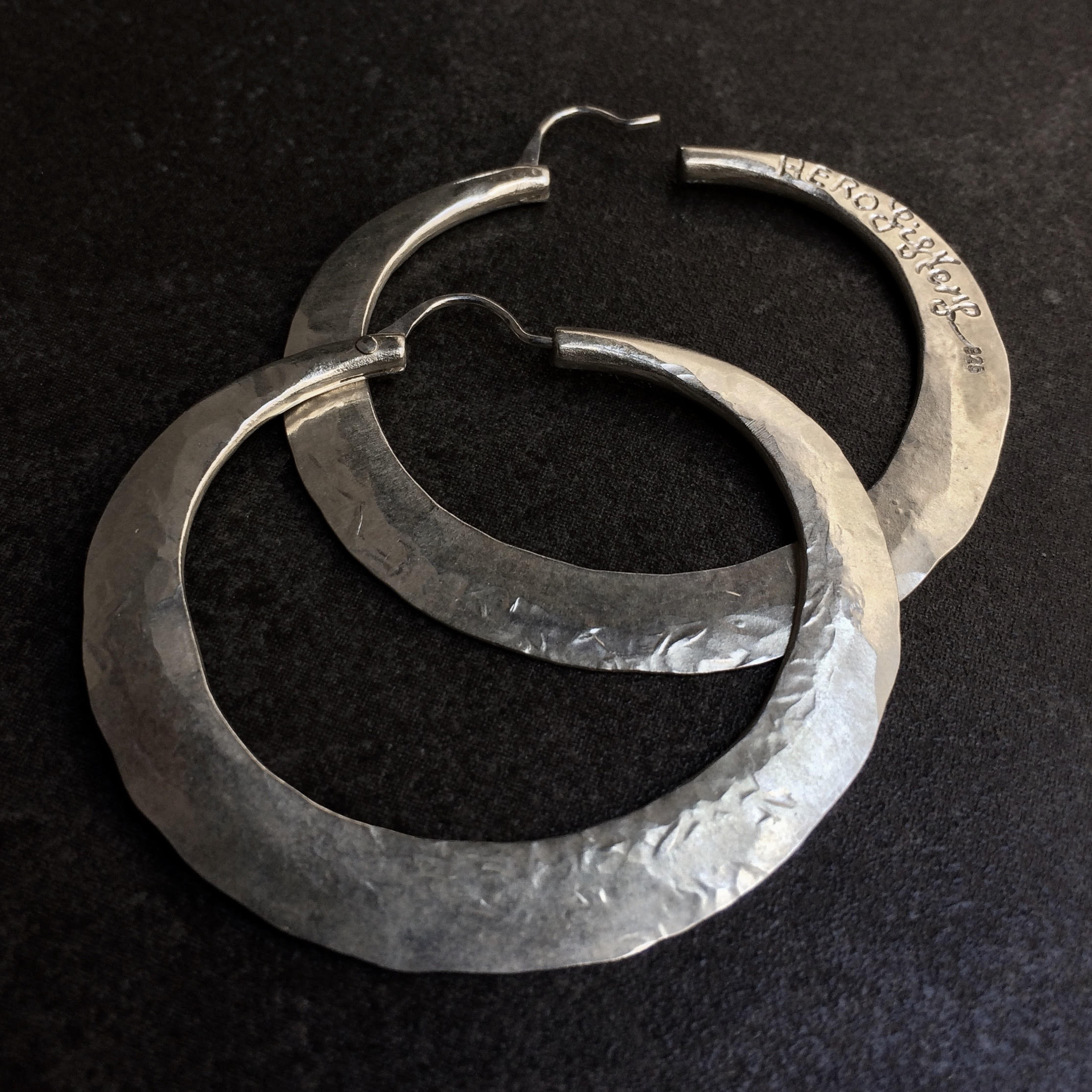 HERO Hoops (medium)  by herosisters - Luxury handmade silver jewelry and accessories