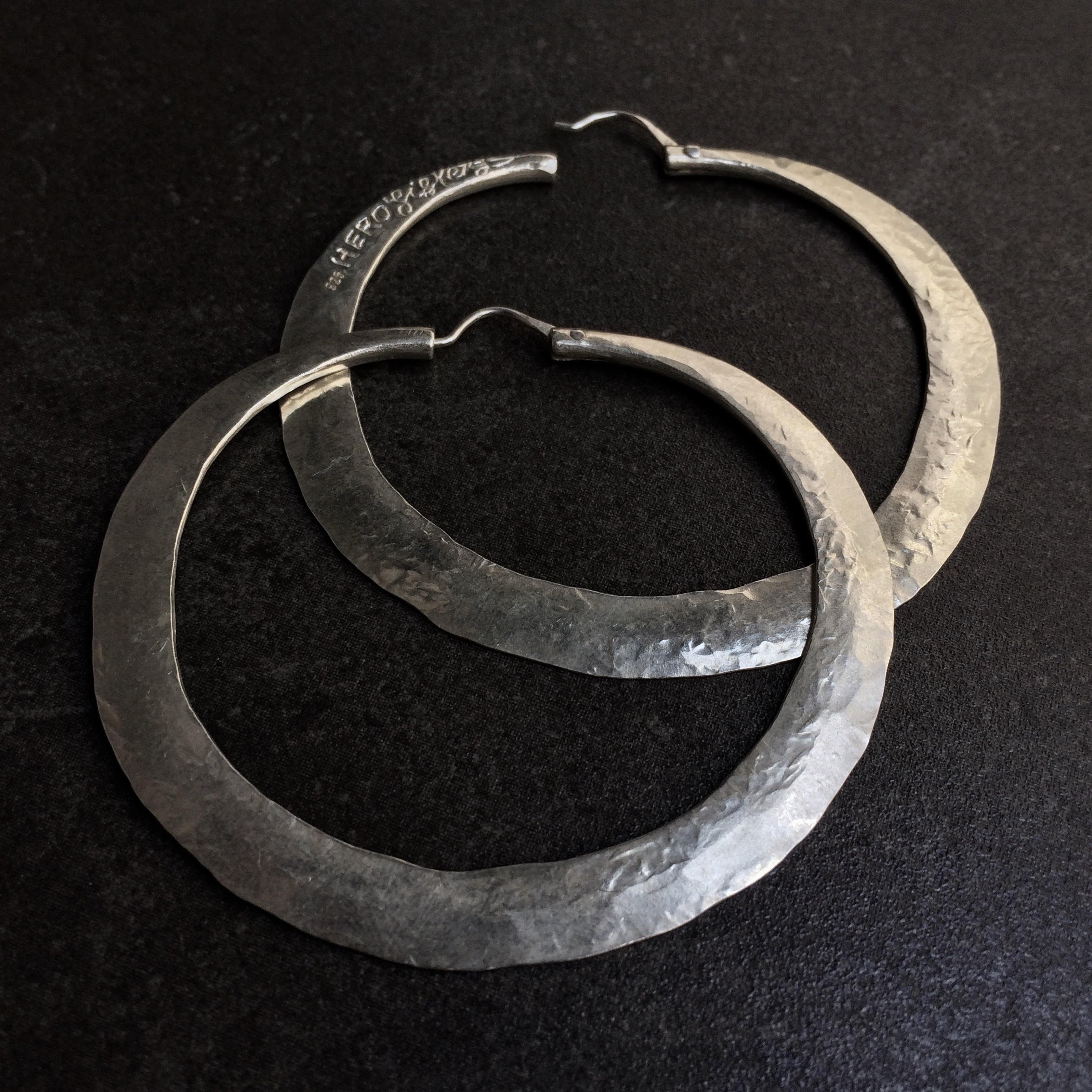 HERO Hoops (large)  by herosisters - Luxury handmade silver jewelry and accessories
