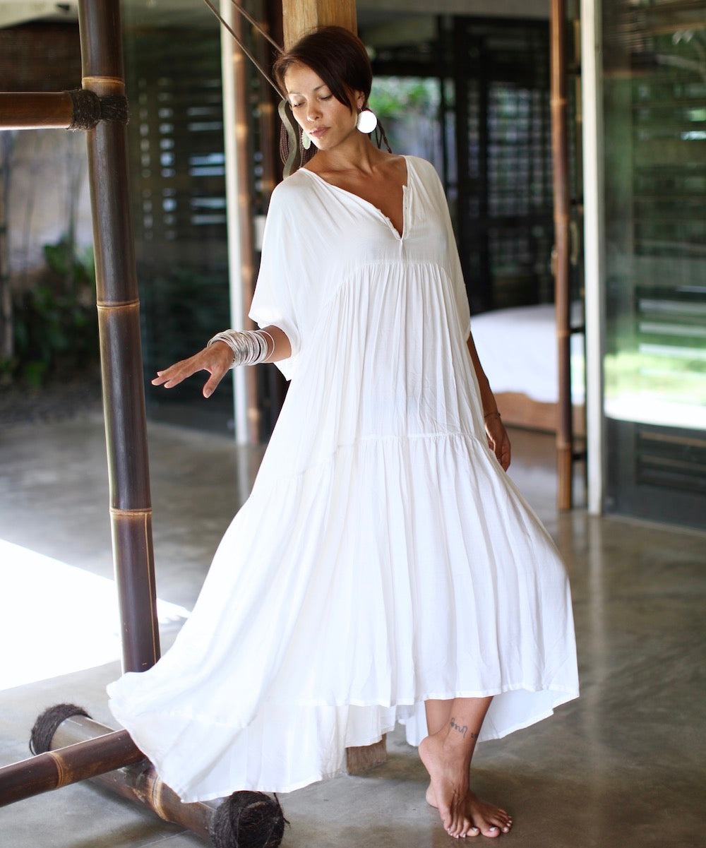 LOULOU Dress (cream/long)  by herosisters - Luxury handmade silver jewelry and accessories