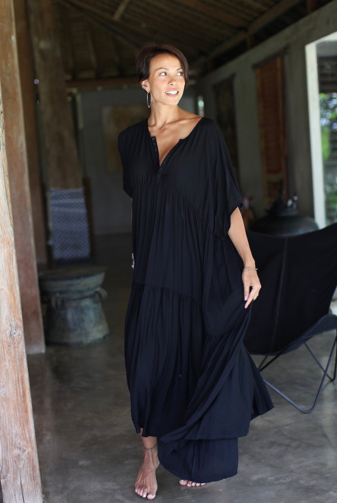 LOULOU Dress (black/long)  by herosisters - Luxury handmade silver jewelry and accessories