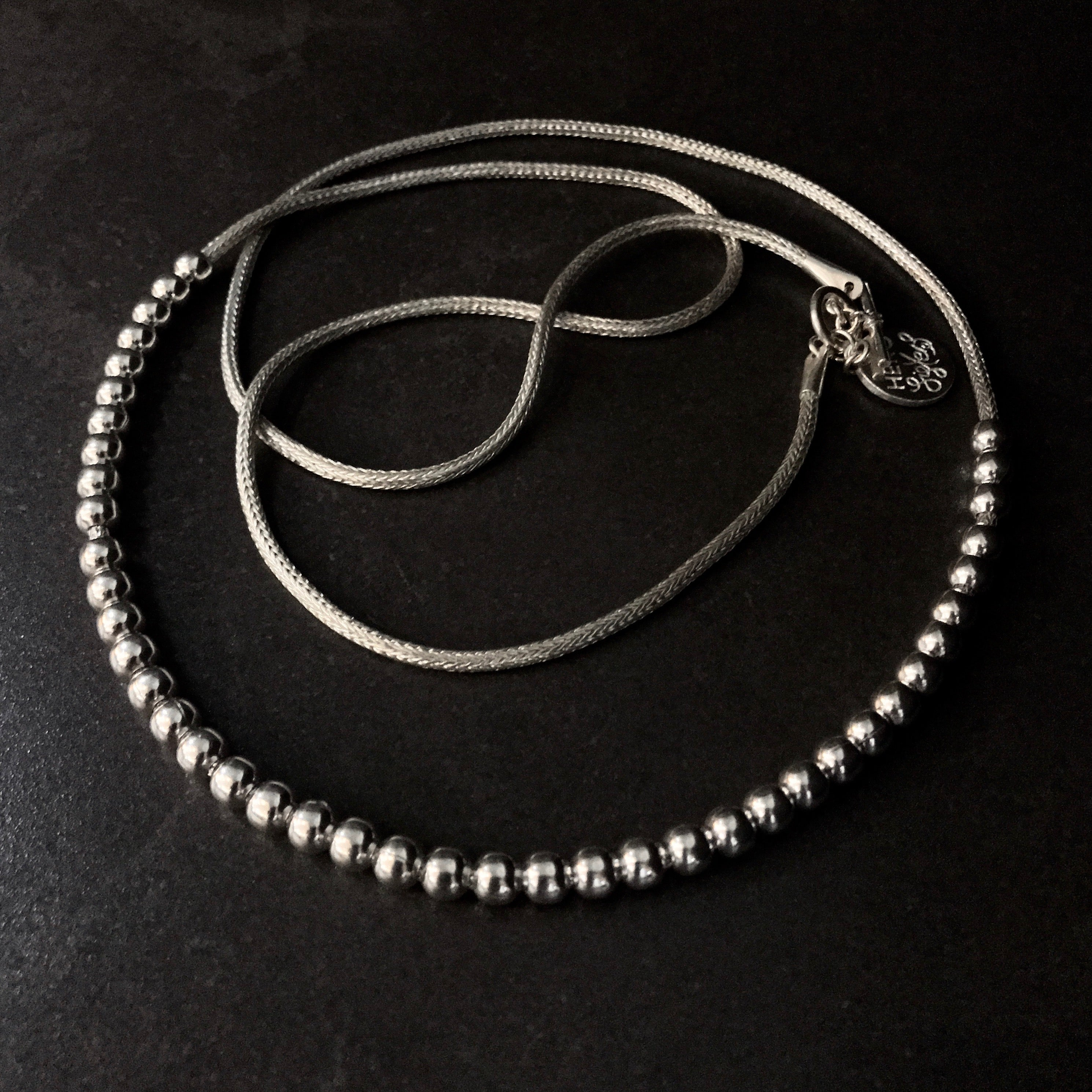 """NO WORRIES"" Bead Necklace  by herosisters - Luxury handmade silver jewelry and accessories"