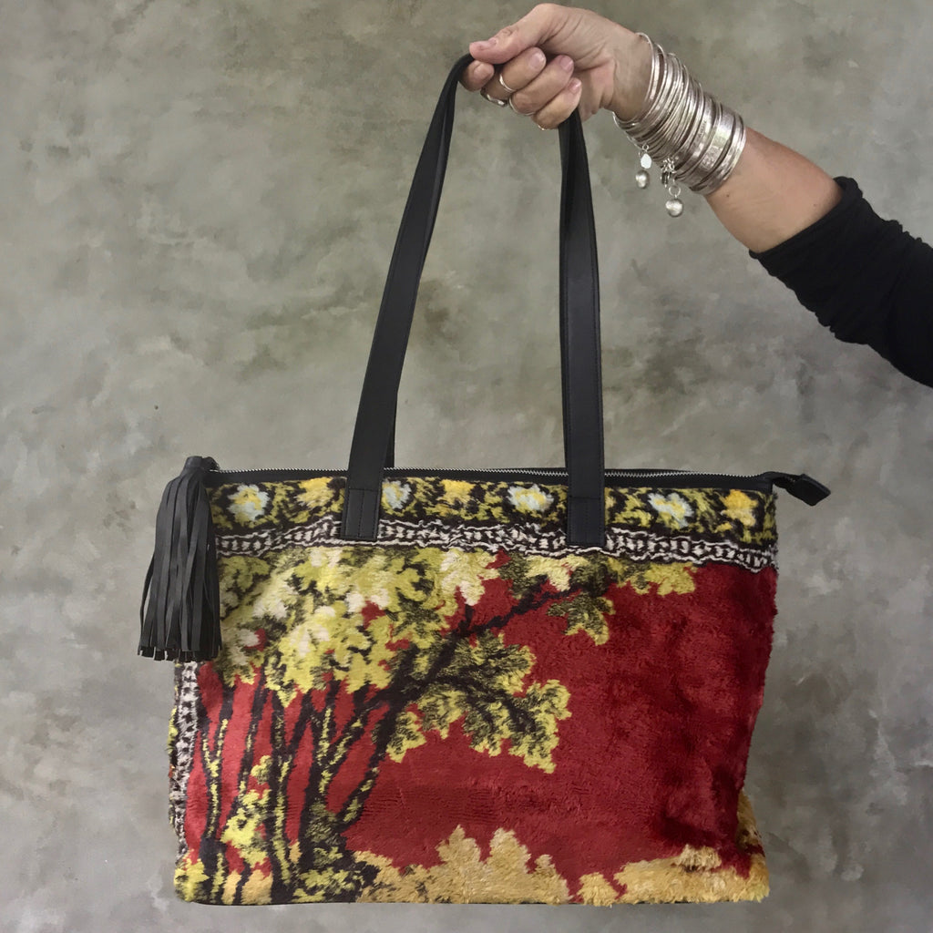 SAHARA Carpet Bag (red garden)