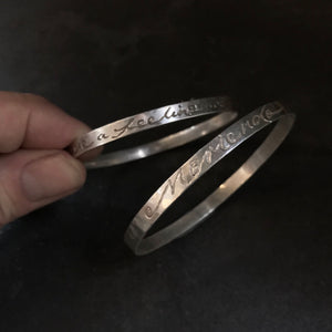 DEVOTE Bangle (5mm)  by herosisters - Luxury handmade silver jewelry and accessories