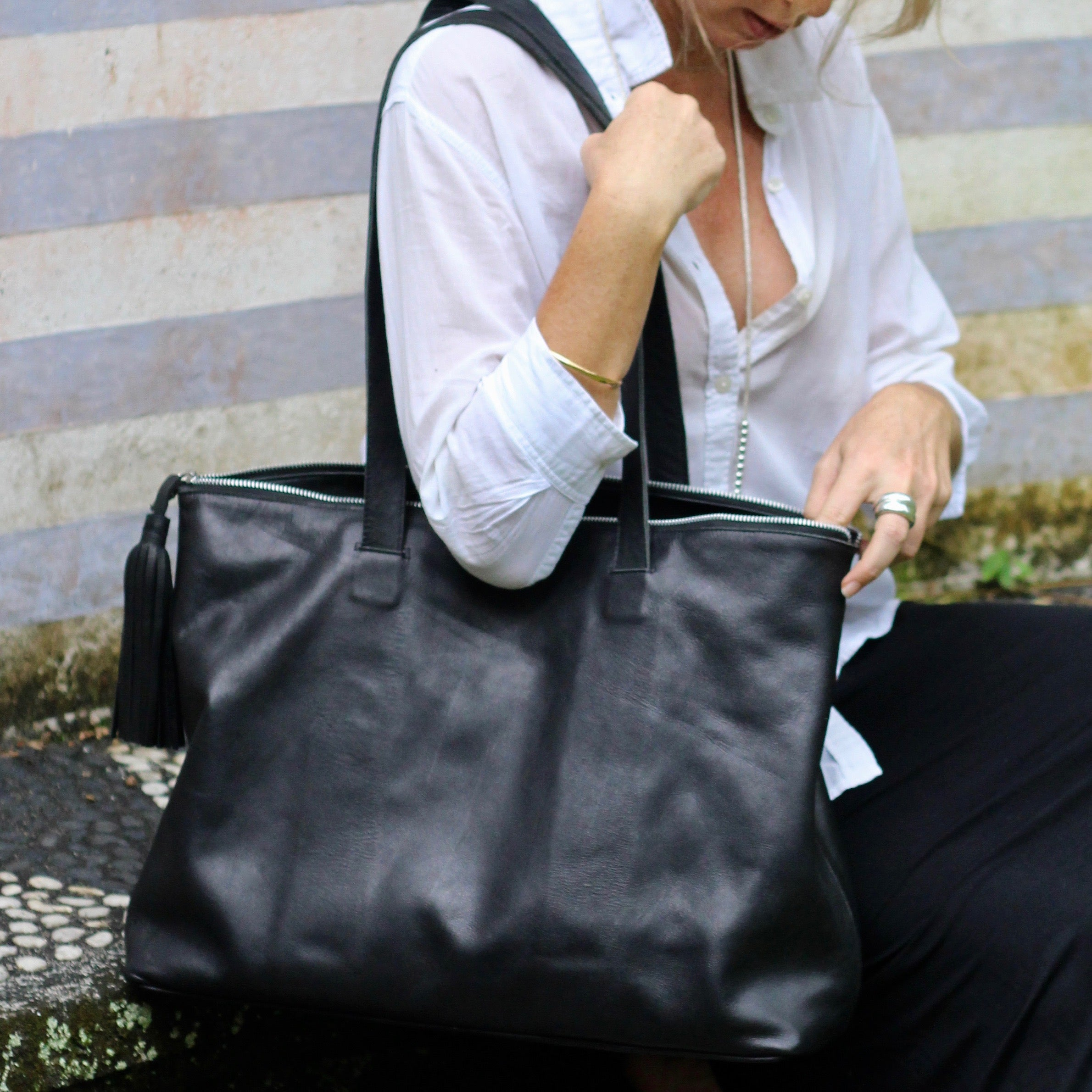 WEEKENDER Bag (black)  by herosisters - Luxury handmade silver jewelry and accessories