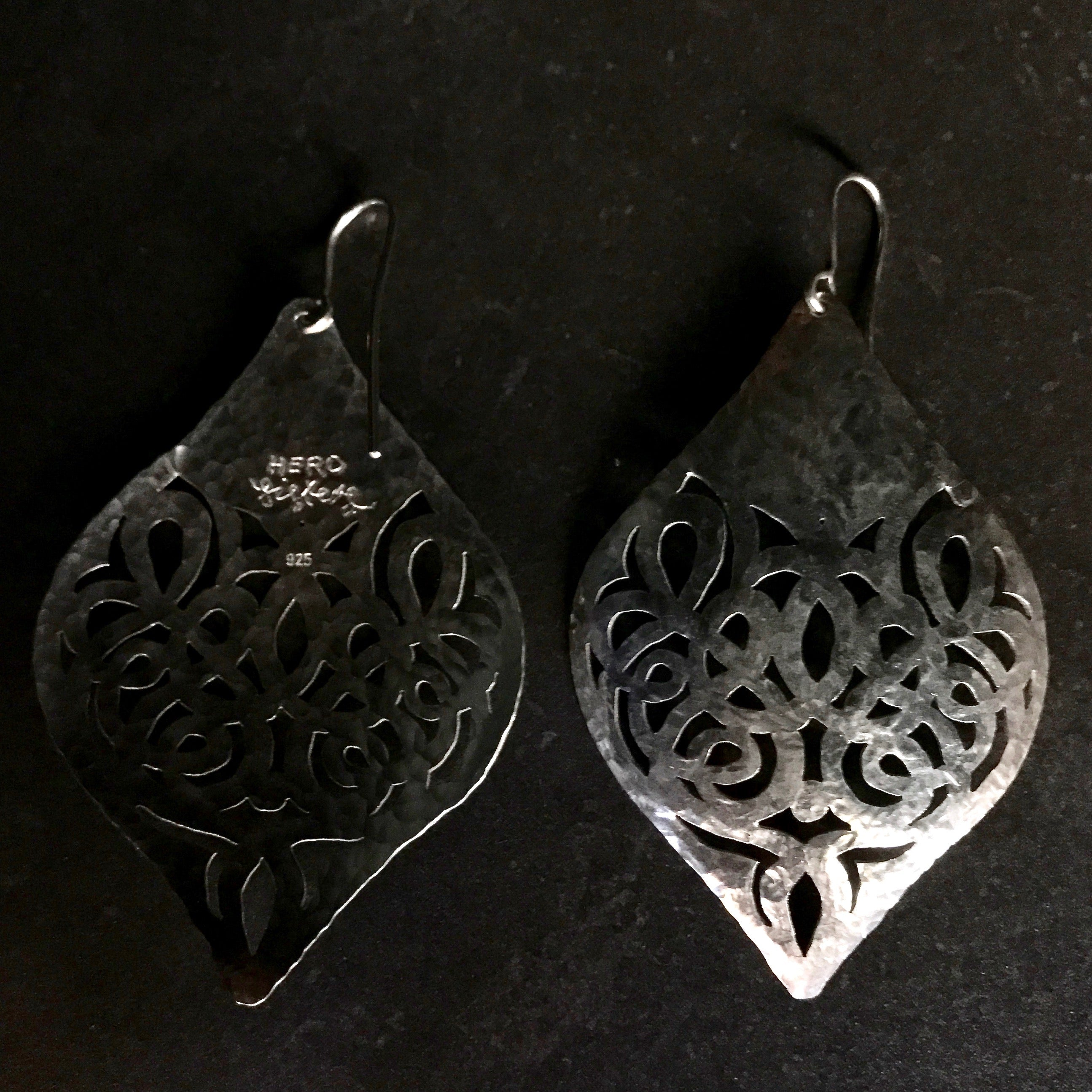 TESS0102 Earrings  by herosisters - Luxury handmade silver jewelry and accessories