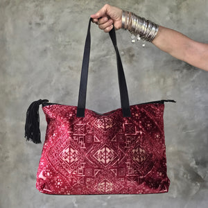 SAHARA Carpet Bag (red)