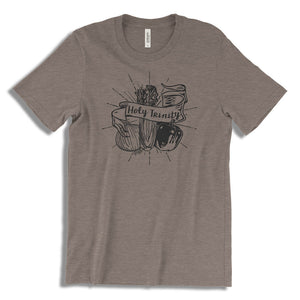 Cajun T-Shirt Club Holy Trinity T-Shirt in Pebble Brown