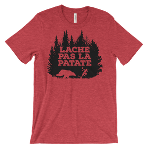 Lache Pas La Patate T-Shirt from Cajun T-Shirt Club