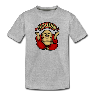 Boudin Buddha | Kids' Premium T-Shirt - heather gray