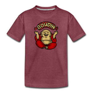 Boudin Buddha | Kids' Premium T-Shirt - heather burgundy