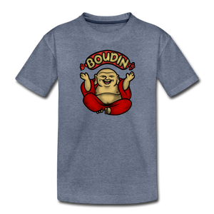 Boudin Buddha | Kids' Premium T-Shirt - heather blue