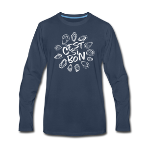 C'est Si Bon | Men's Premium Long Sleeve T-Shirt - navy
