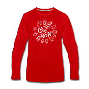 C'est Si Bon | Men's Premium Long Sleeve T-Shirt - red