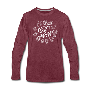 C'est Si Bon | Men's Premium Long Sleeve T-Shirt - heather burgundy