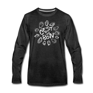 C'est Si Bon | Men's Premium Long Sleeve T-Shirt - charcoal gray