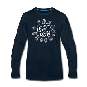 C'est Si Bon | Men's Premium Long Sleeve T-Shirt - deep navy