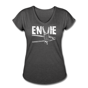 Envie | Women's Tri-Blend V-Neck T-Shirt - deep heather